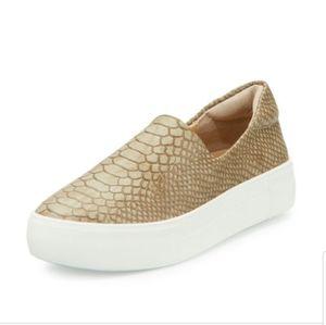 J slides ariana snake print slip on sneaker